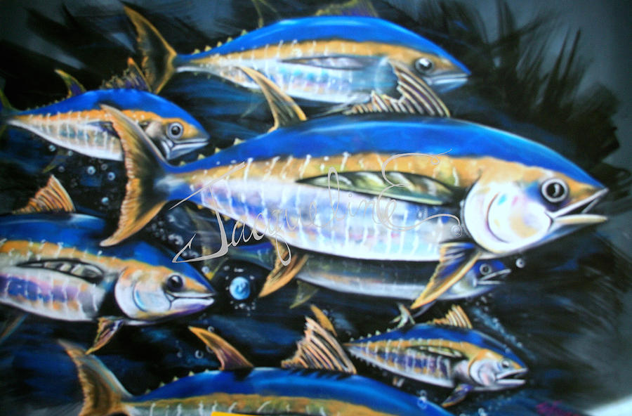 Tuna Mixed Media - Schoolies by Jacqueline Endlich