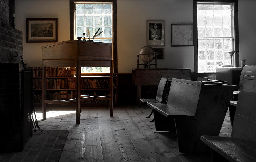 Photograph Photograph - Schoolroom 1 by Lois Lepisto
