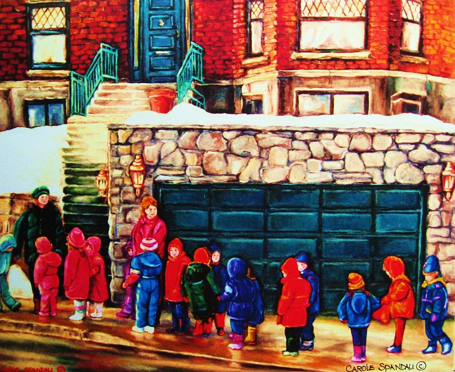 Westmount Painting - Schools Out by Carole Spandau