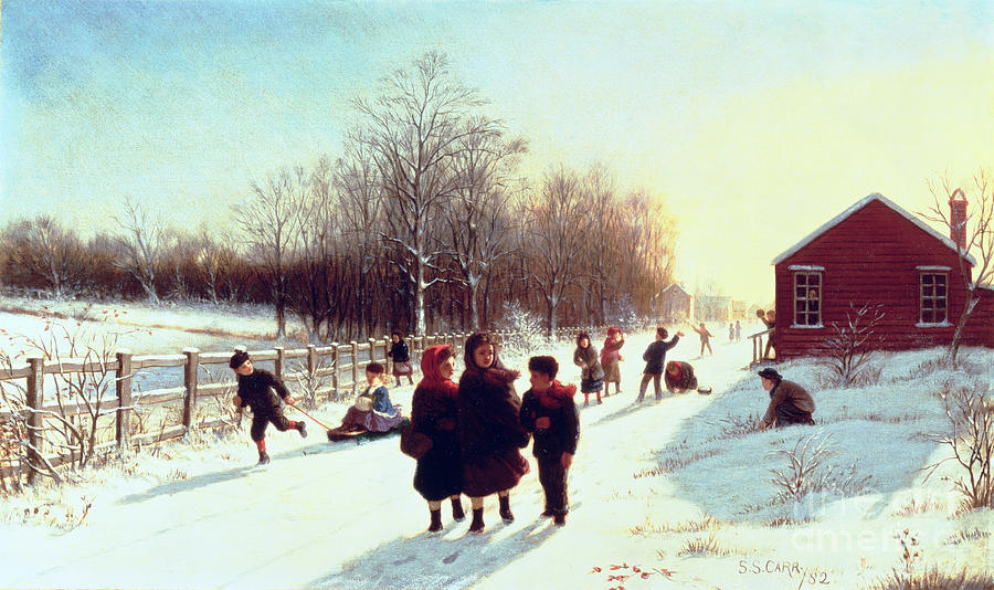 School Painting - Schools Out by Samuel S Carr