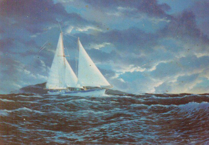Seascape Painting - Schooner Machias-maui by Leif Thor Kvammen