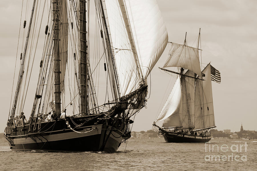 Schooner Pride of Baltimore and Lynx by Dustin K Ryan