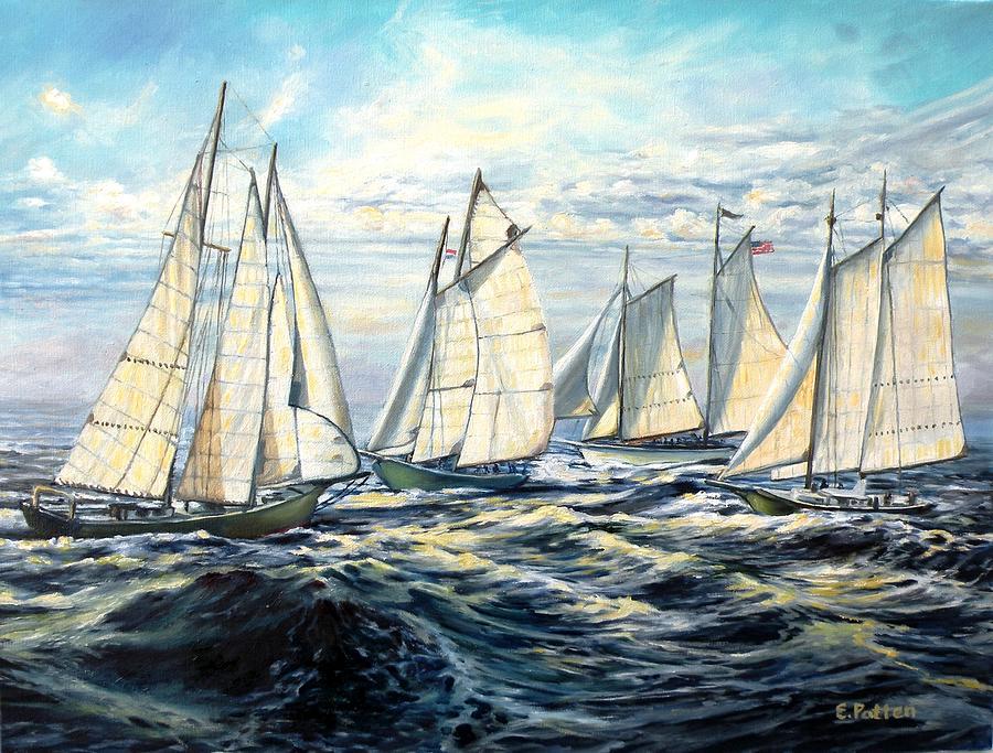 Schooner Race by Eileen Patten Oliver