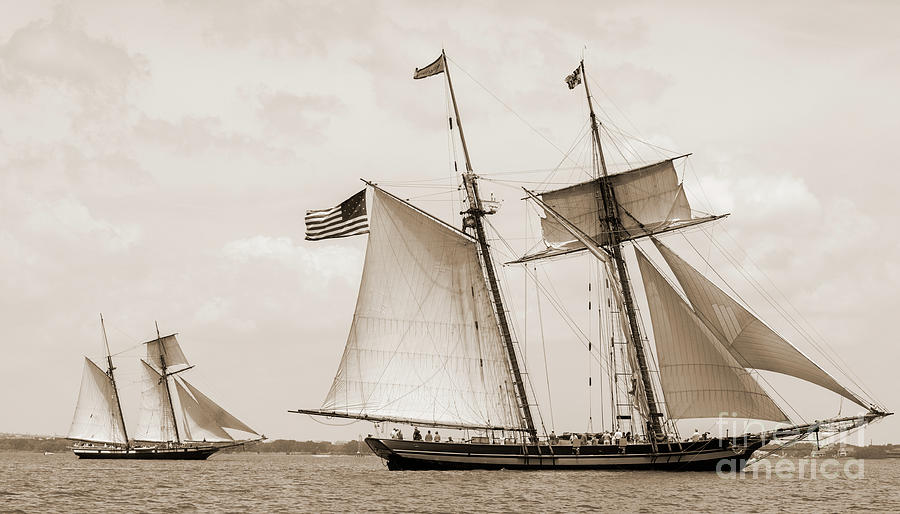 Schooners Pride of Baltimore and Lynx by Dustin K Ryan