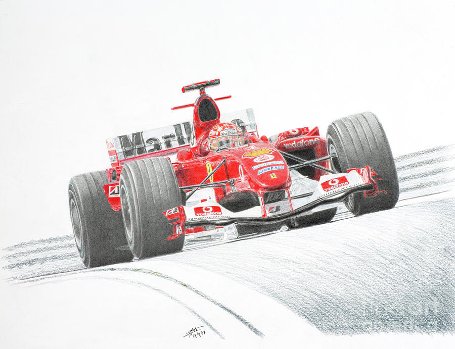 Michael Schumacher Ferrari F2004 by Lorenzo Benetton