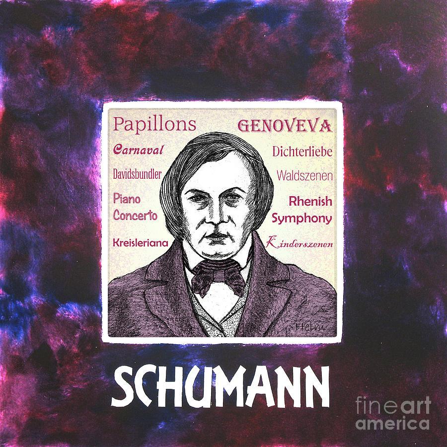 Schumann Drawing - Schumann by Paul Helm