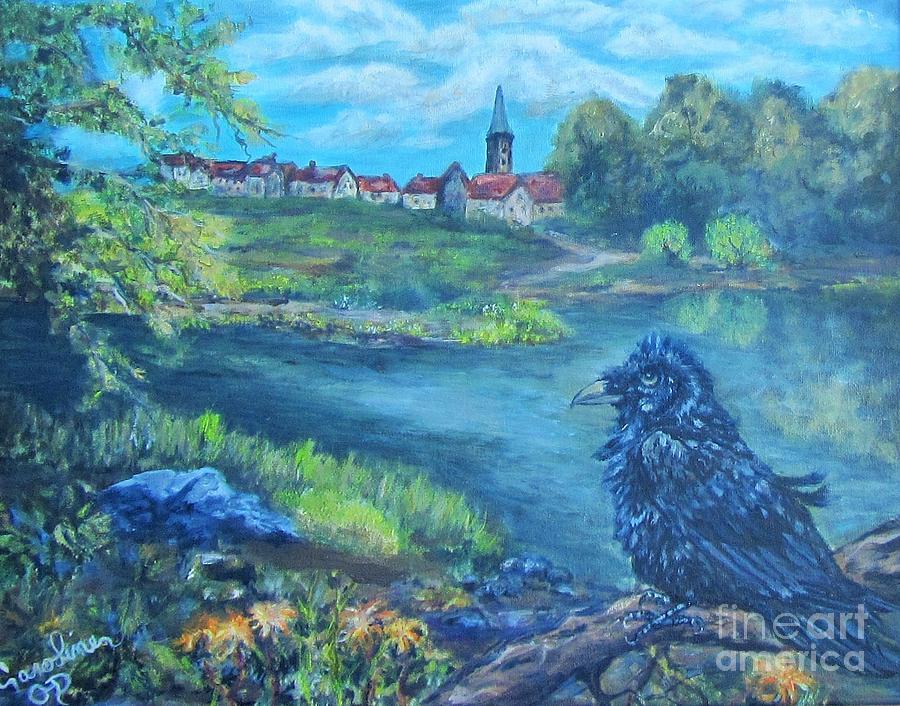 Town Painting - Schwabach Statthalter by Caroline Owen-Doar