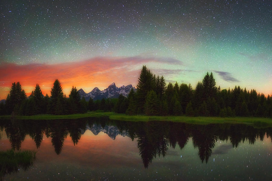 Night Photography Photograph - Schwabacher Heavens by Darren  White