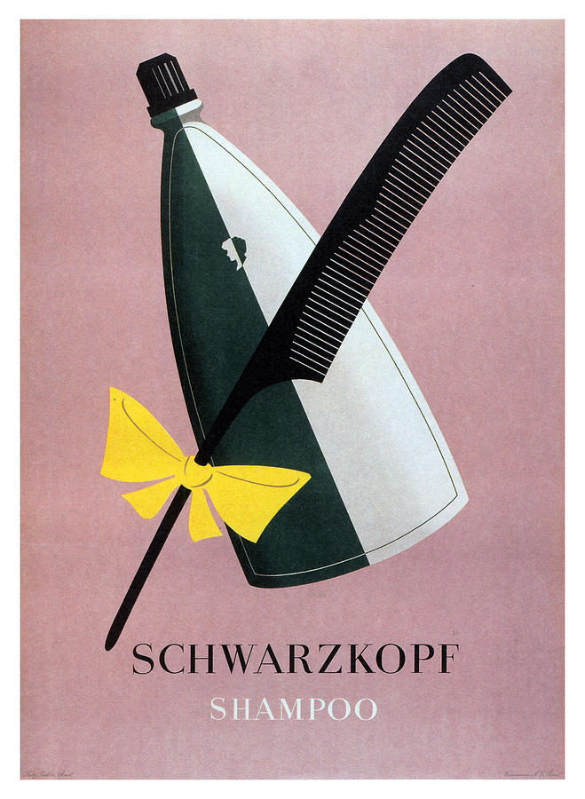 Schwarzkopf Shampoo - Vintage Advertising Poster Mixed Media
