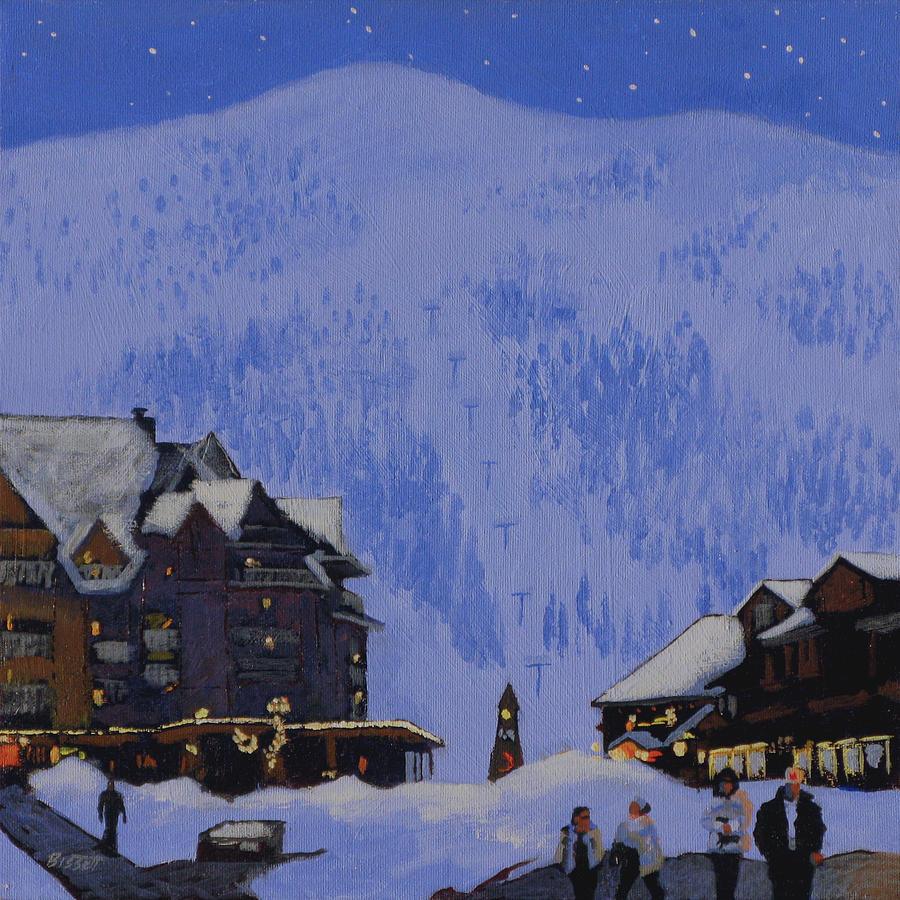 Schweitzer Painting - Schweitzer Nights by Robert Bissett