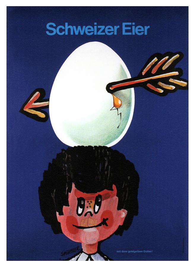 Schweizer Eier - Swiss Eggs - Vintage Advertising Poster Mixed Media