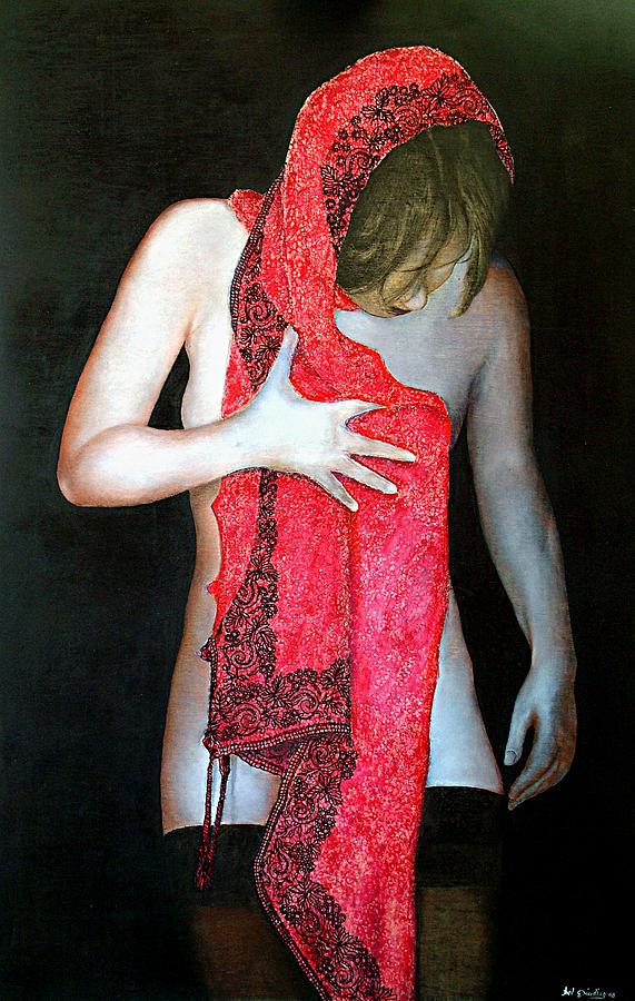 Scialle Ricamato Painting by Amedeo Del Giudice