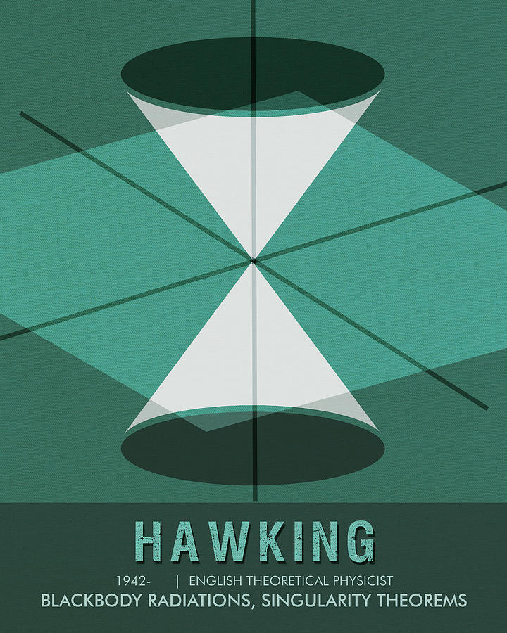 Science Poster - Stephen Hawking - Theoretical Physicist Mixed Media
