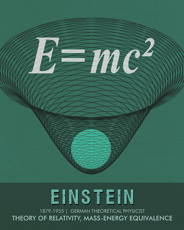 Science Posters - Albert Einstein - Theoretical Physicist Mixed Media