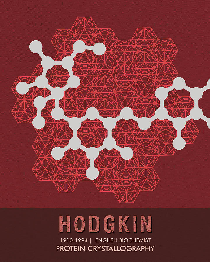 Science Posters - Dorothy Hodgkin - Biochemist Mixed Media