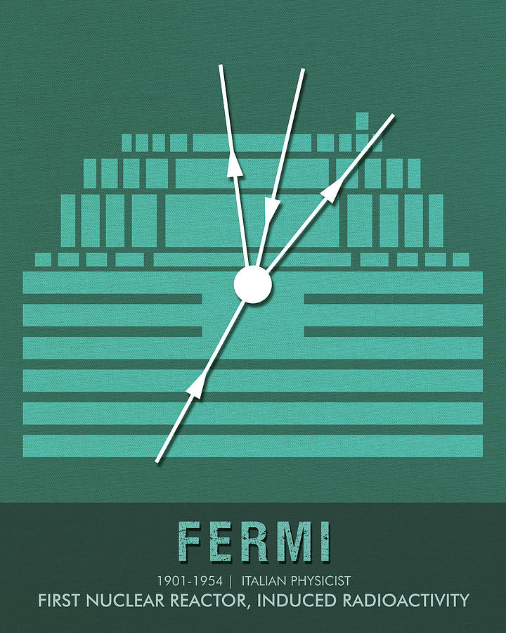 Science Posters - Enrico Fermi - Physicist Mixed Media