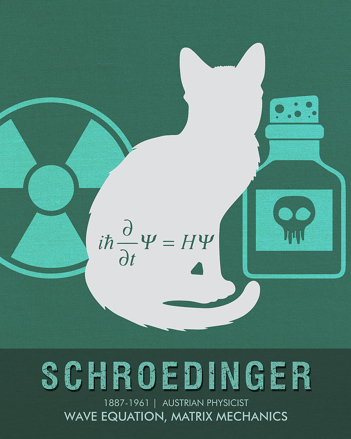 Science Posters - Erwin Schroedinger - Physicist Mixed Media