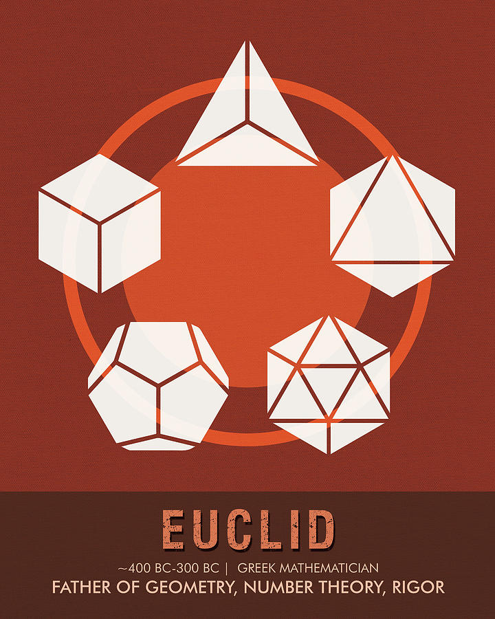 Science Posters - Euclid - Mathematician Mixed Media