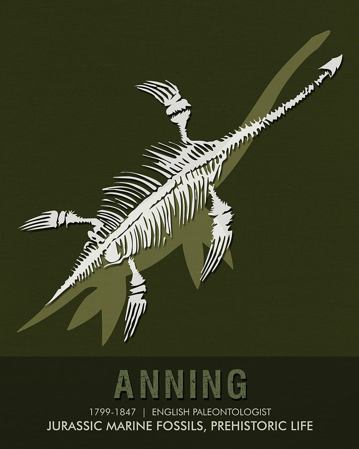 Science Posters - Mary Anning - Paleontologist Mixed Media