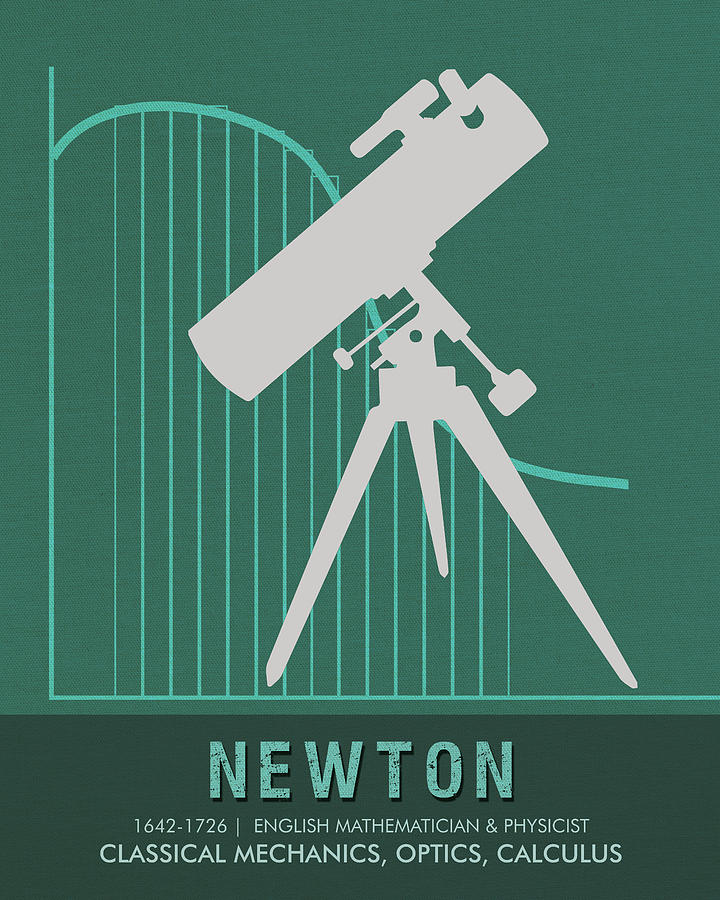 Science Posters - Sir Isaac Newton - Physicist, Mathematician, Astronomer Mixed Media