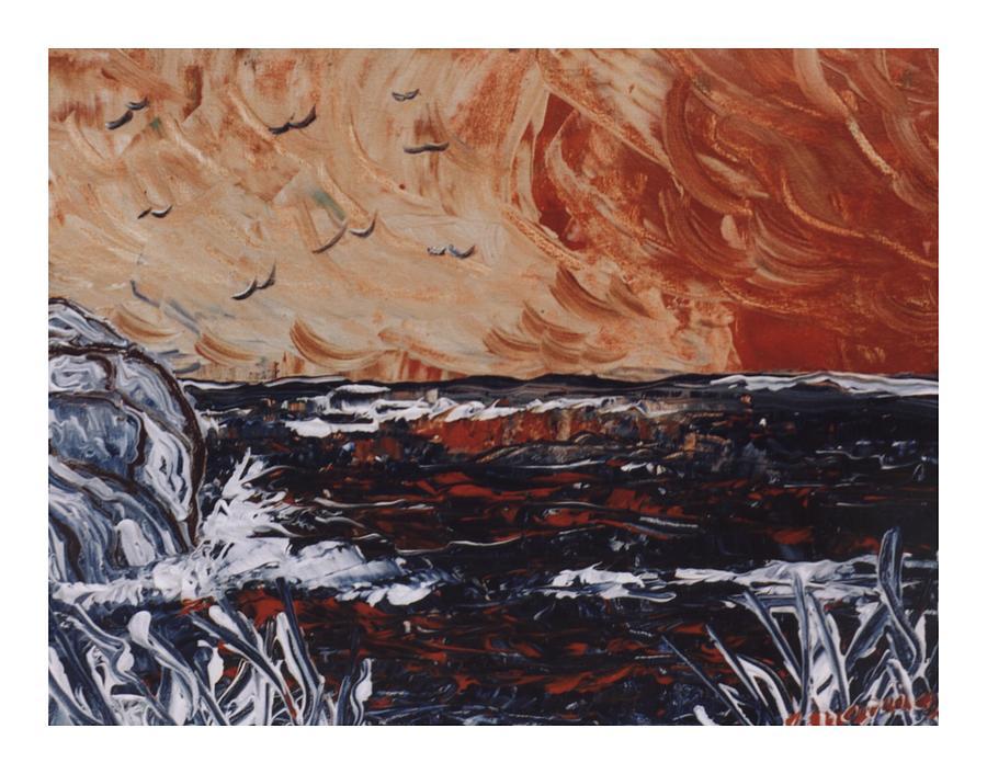 Seascape Painting - Scoglio by Carla Marino