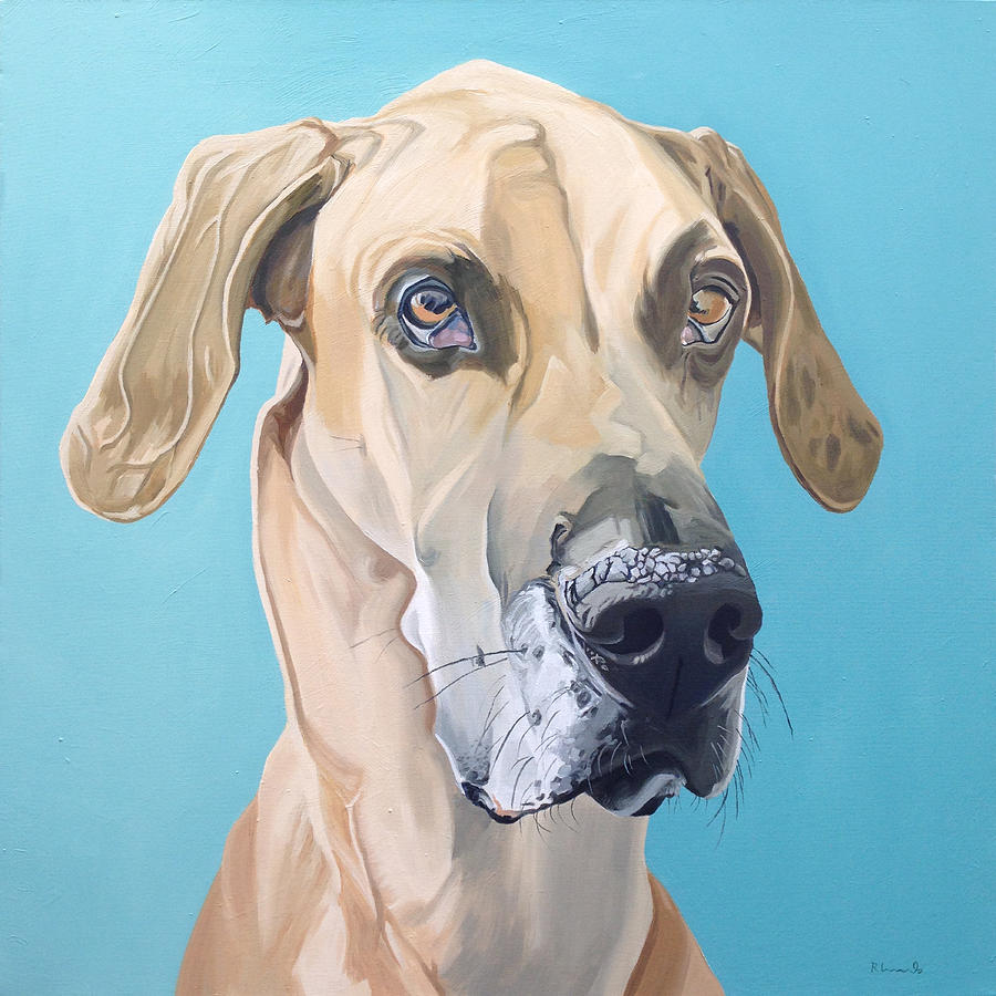 Dog Painting - Scooby by Nathan Rhoads