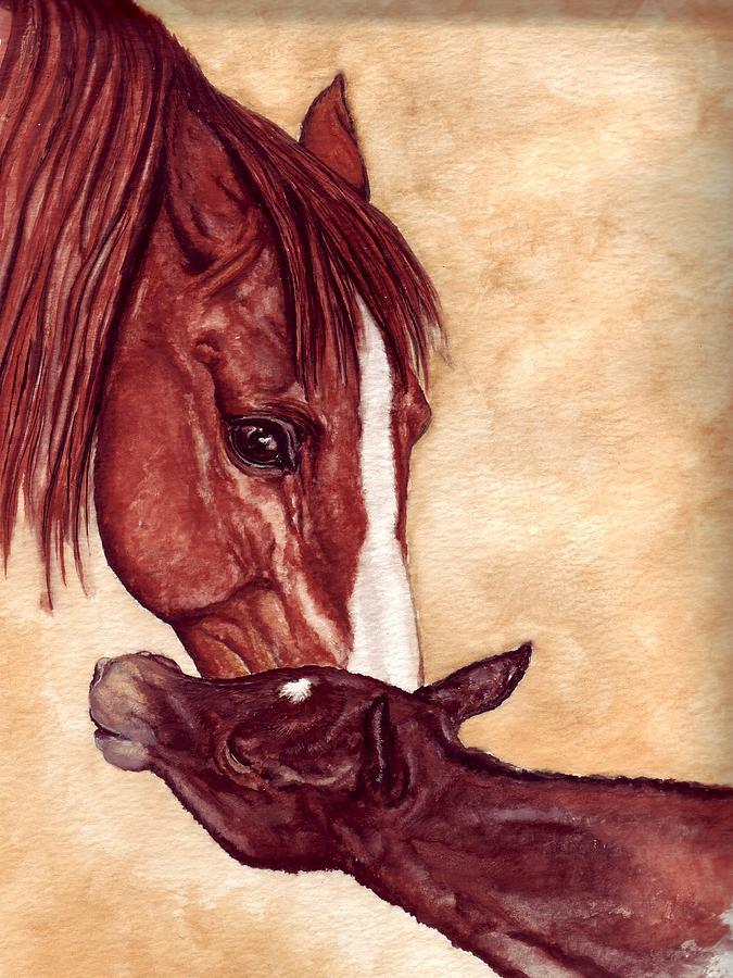 Horse Painting - Scootin by Kristen Wesch