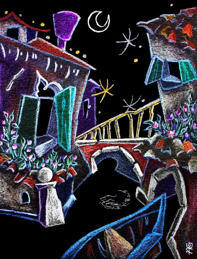 Canal Grande Drawing - Scorcio Veneziano - Venise Art Dessin - Dibujo Canal De Venecia by Arte Venezia