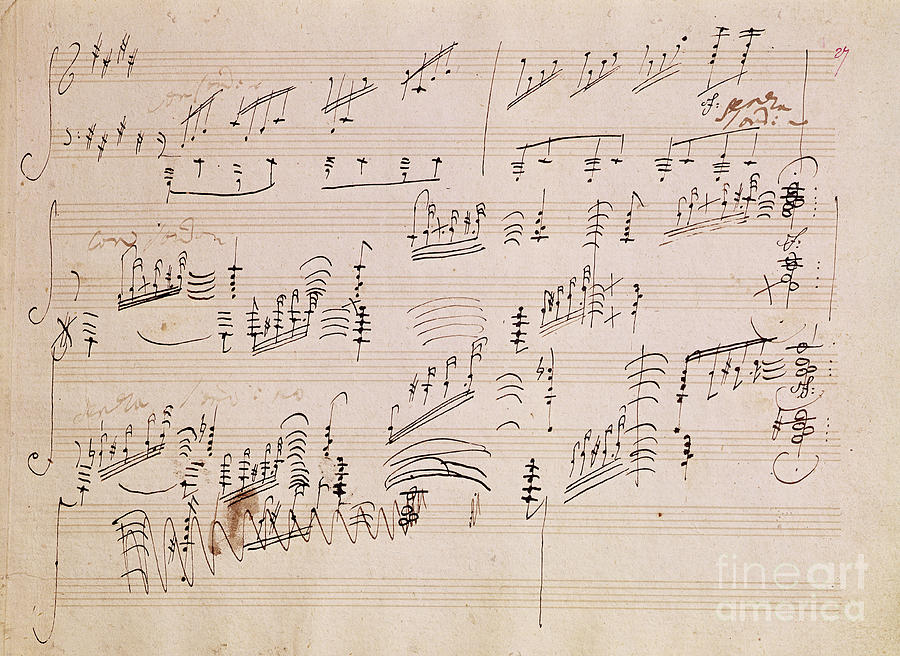 Score Painting - Score Sheet Of Moonlight Sonata by Ludwig van Beethoven