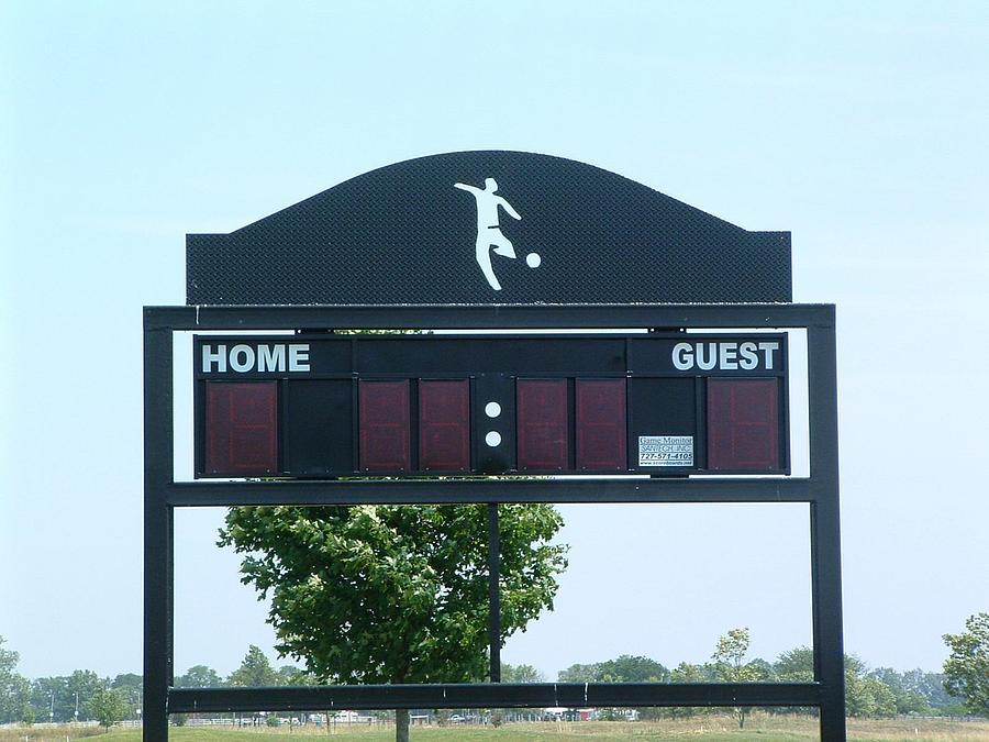 Steel Sculpture - Scoreboard by Buzz Ferrell