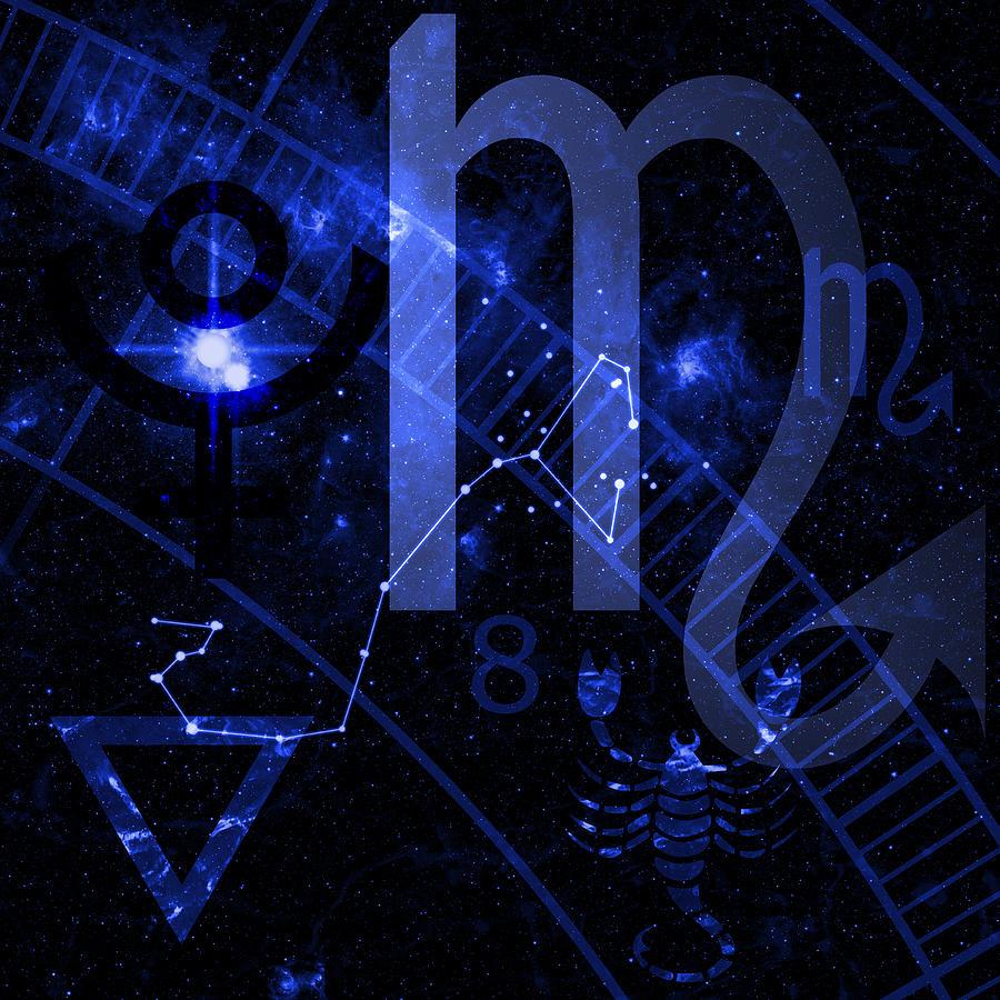 Horoscope Digital Art - Scorpio by JP Rhea