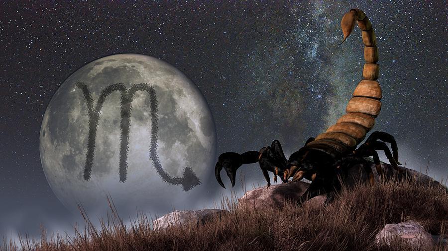 Scorpio Digital Art - Scorpio Zodiac Symbol by Daniel Eskridge