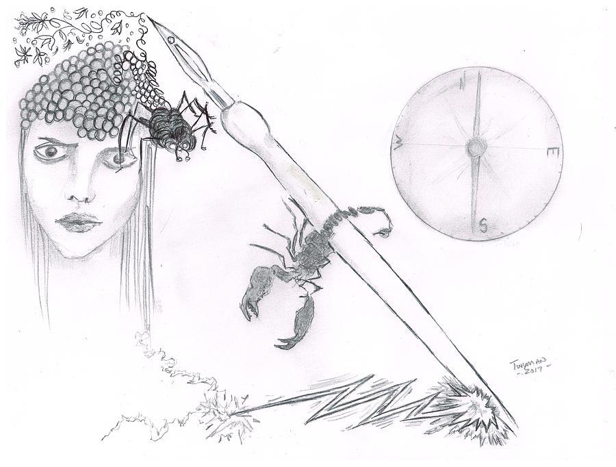 Scorpion Pen Drawing