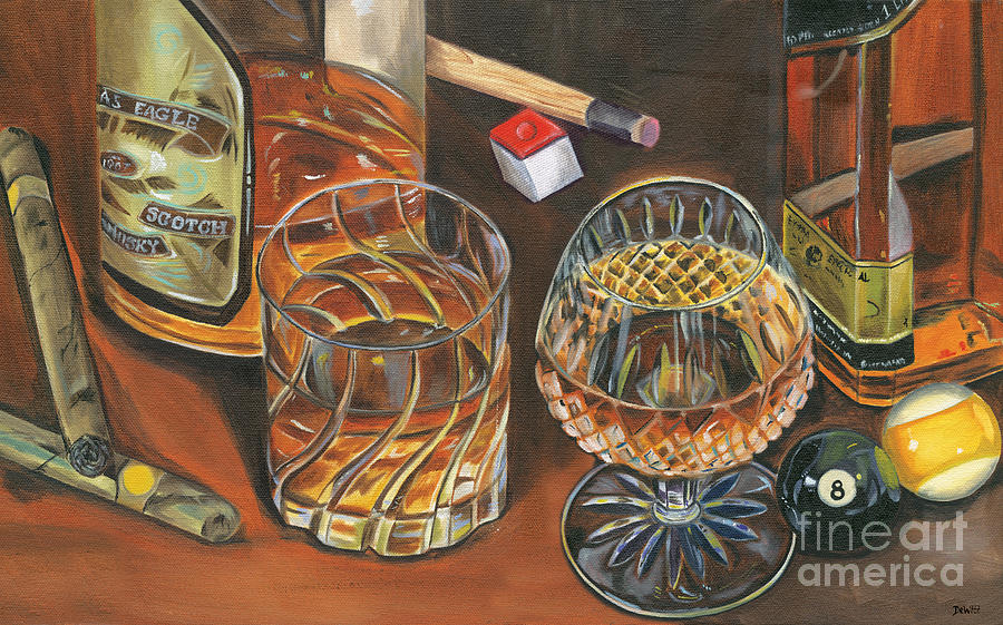 Scotch Painting - Scotch Cigars And Poll by Debbie DeWitt