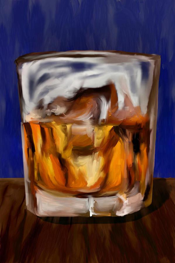 Scotch Digital Art - Scotch On The Rocks by Jeff Montgomery