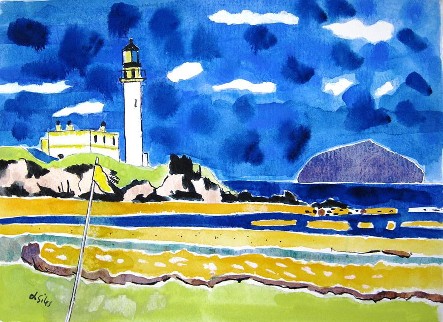 Turnberry Painting - Scotland Turnberry 10 by Lesley Giles