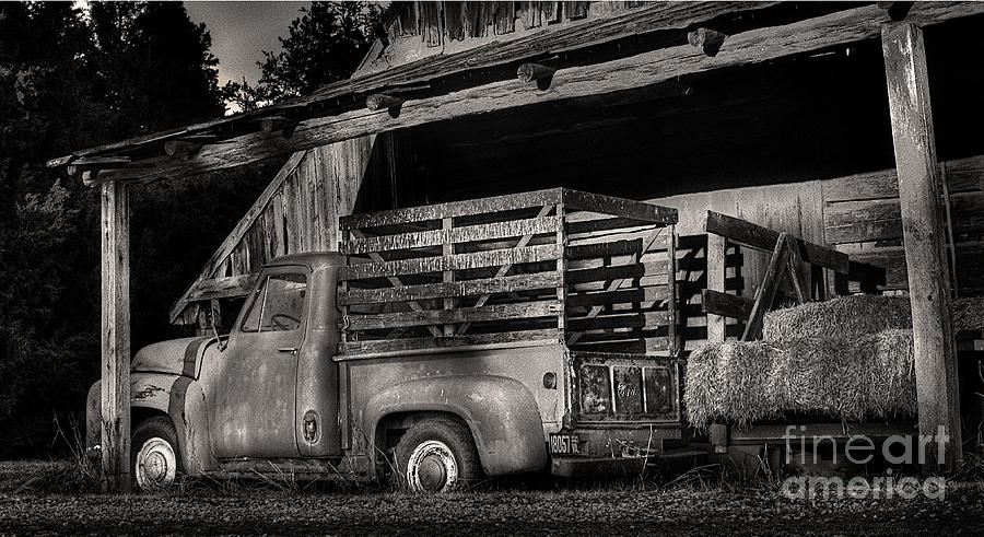Scotopic Photograph - Scotopic Vision 5 - The Barn by Pete Hellmann