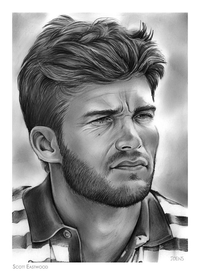 Scott Eastwood Drawing - Scott Eastwood by Greg Joens