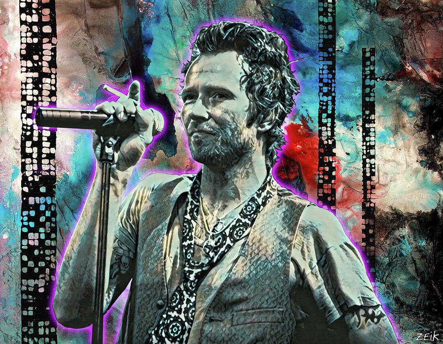 Chris Cornell Painting - Scott Weiland - Silvergun Superman by Bobby Zeik