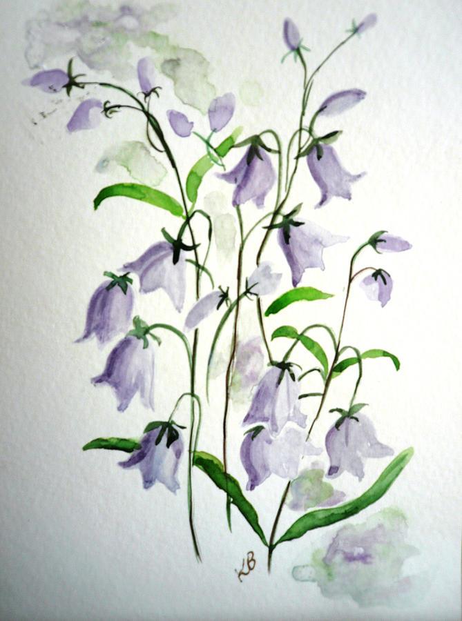 Scottish Blue Bells Painting by Karin  Dawn Kelshall- Best