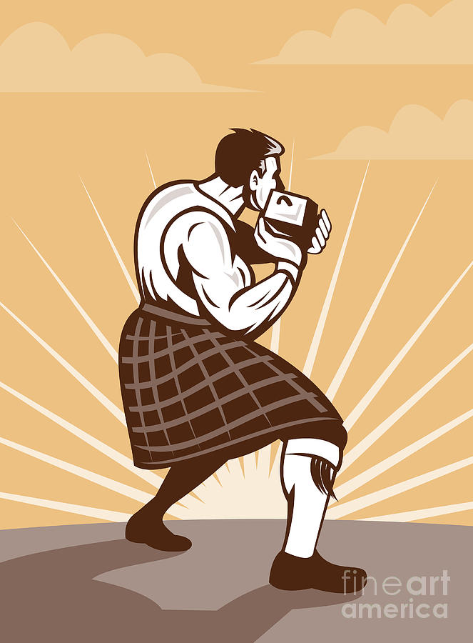 Scot Digital Art - Scottish Games by Aloysius Patrimonio