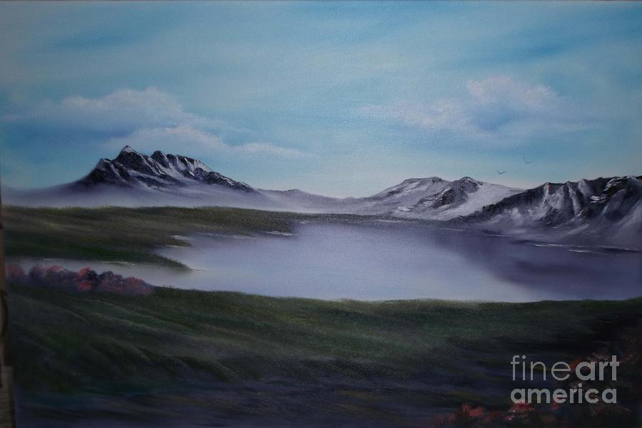 Mountains Painting - Scottish Highlands. by Cynthia Adams