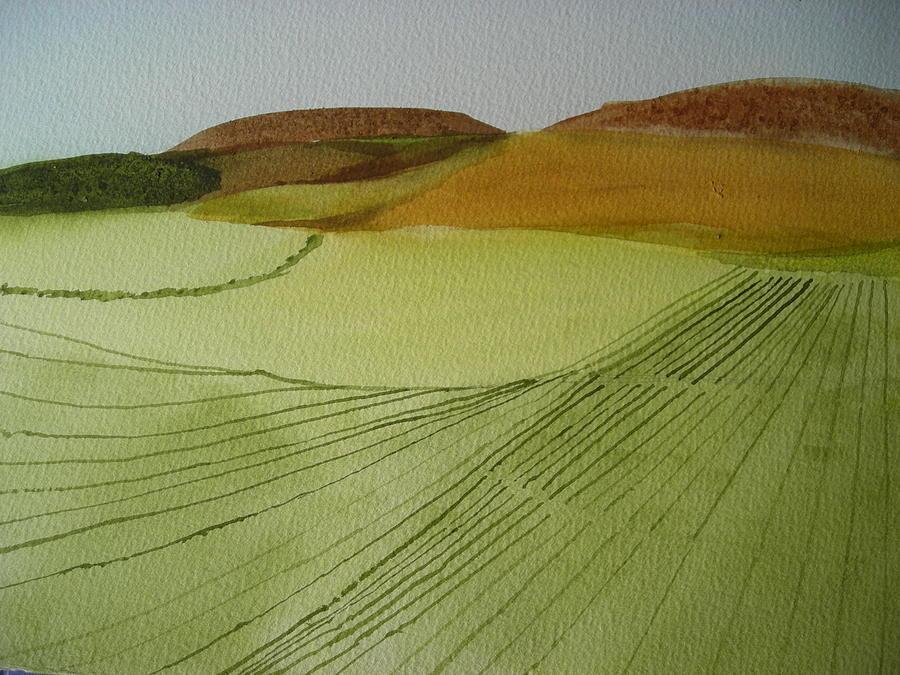 Scottish Landscape Painting by Carol Steinhauer