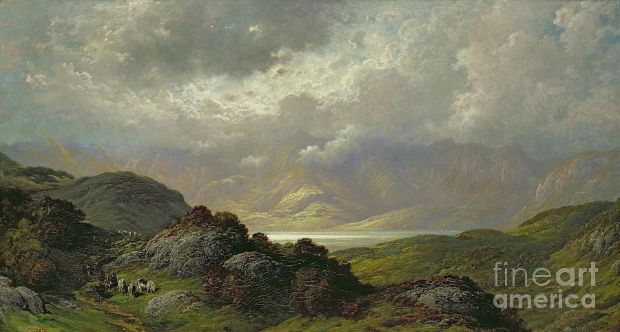 Scottish Painting - Scottish Landscape by Gustave Dore