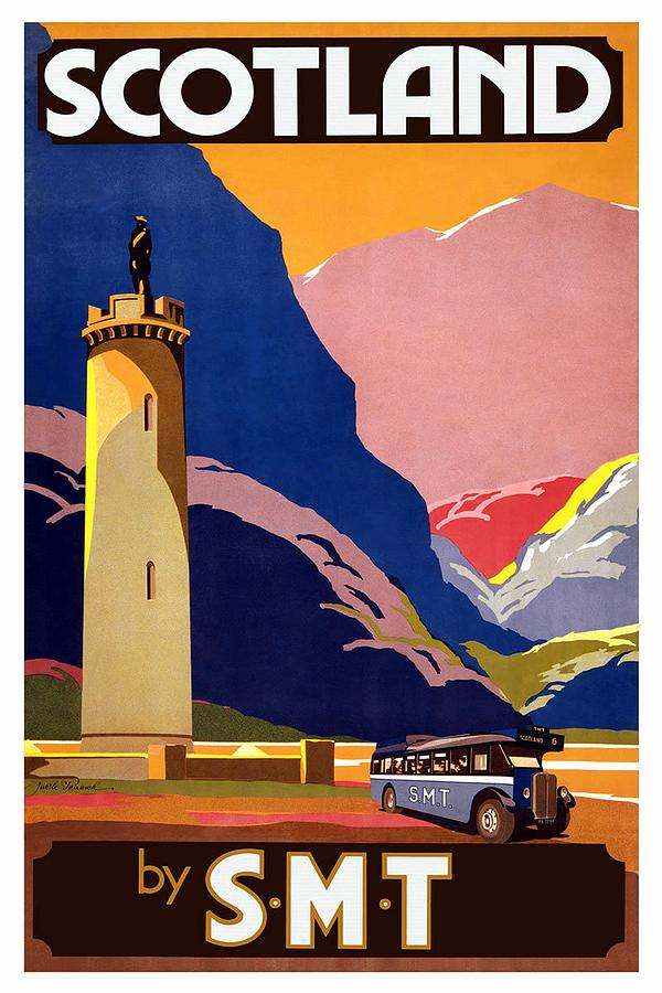Scottish Motor Traction - Scotland By Smt - Retro Travel Poster - Vintage Poster Mixed Media