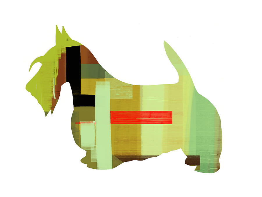 Scottish Terrier Painting - Scottish Terrier by Naxart Studio