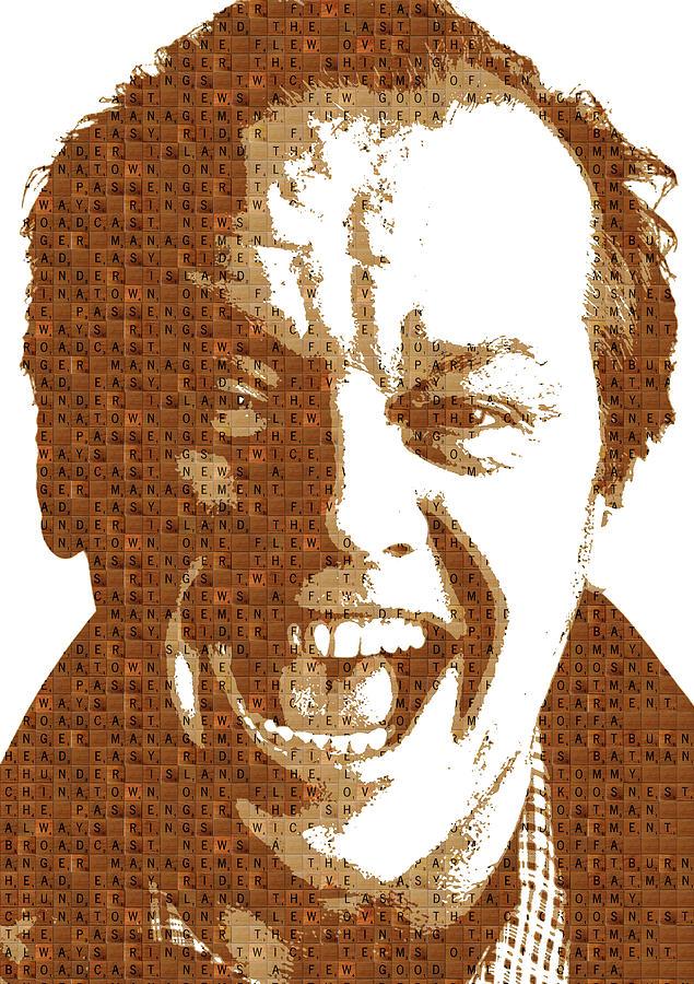 Scrabble Jack Nicholson Painting