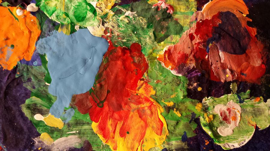 Abstract Painting - Scramble  by Ferdinand Amboy