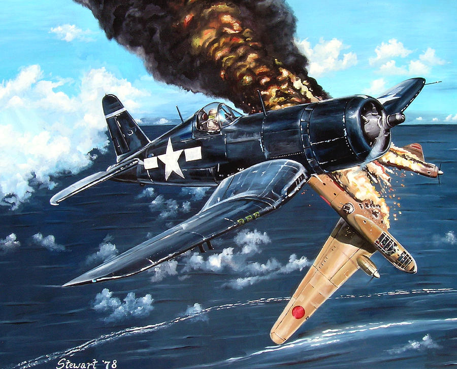 Military Painting - Scratch One Betty by Marc Stewart