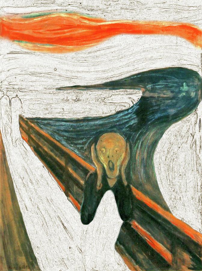 Scream Painting - Scream A Bunch Digital by Karla Beatty